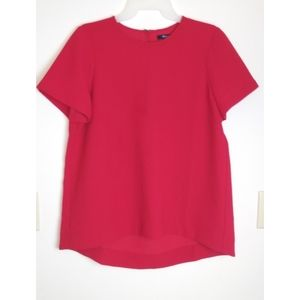 MADEWELL Red Shortsleeve Blouse